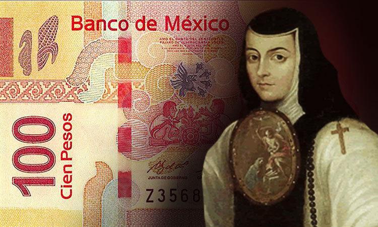 Sor Juana Inés, en nuevo billete de 100 pesos