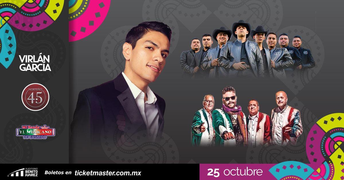 Virlán García, Mi Banda el Mexicano y Norteño4.5 en Fiestas de Octubre