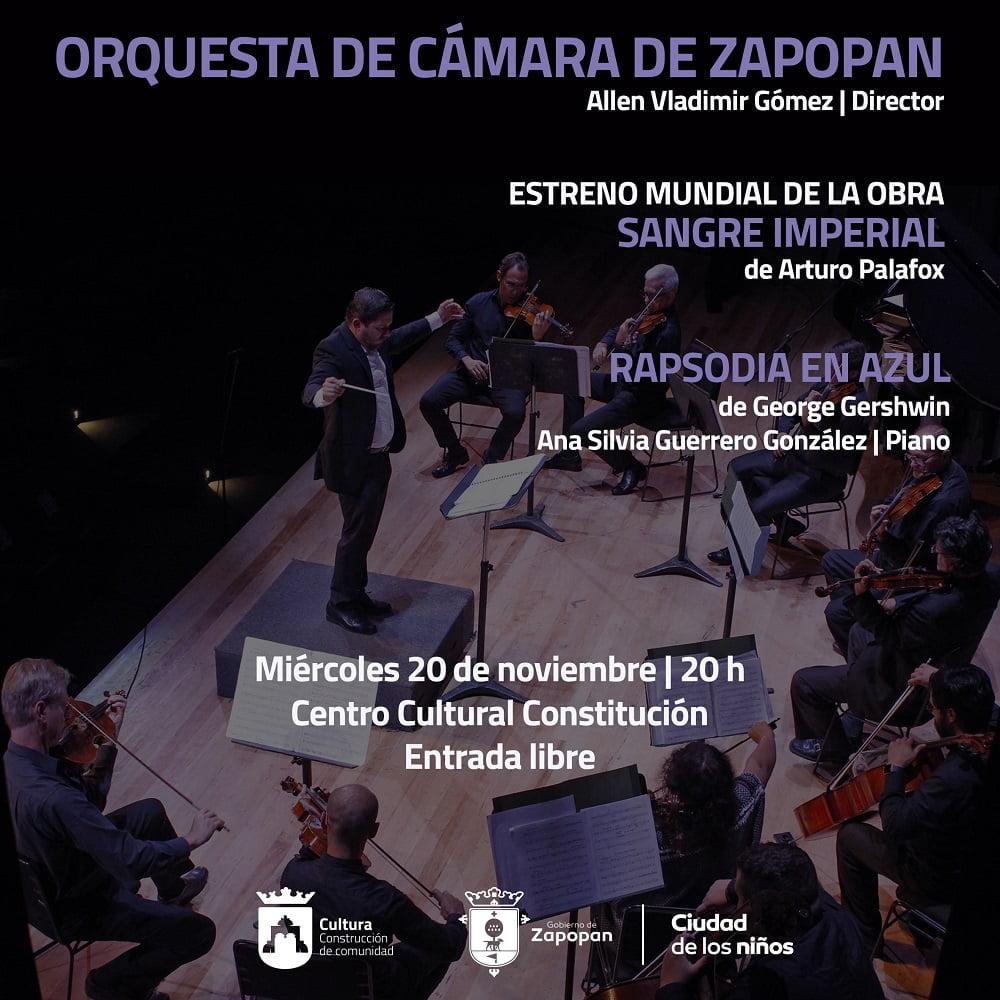 Concierto Orquesta de Cámara de Zapopan, Coro del Estado de Jalisco y Arturo Palafox