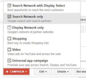 create google adwords search campaign