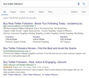 fake social followers