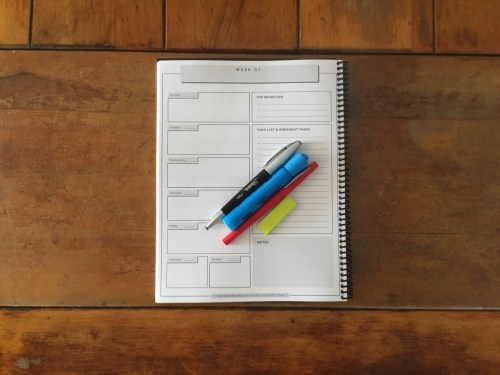 weekly planner for business