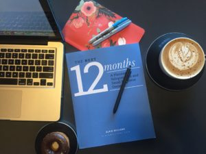 the next 12 months weekly planner - paperback