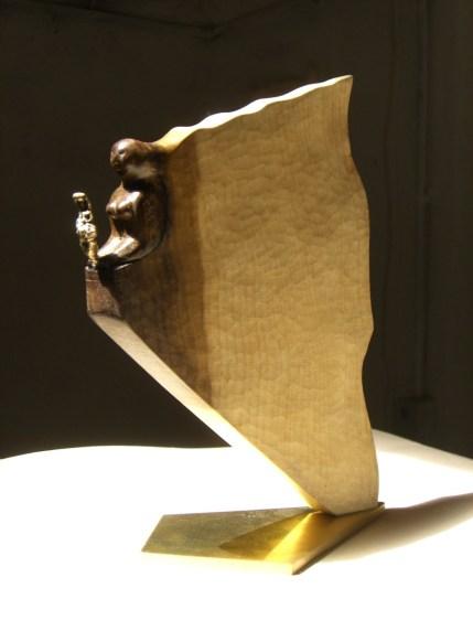 sphinx , tulipier, bronze & laiton