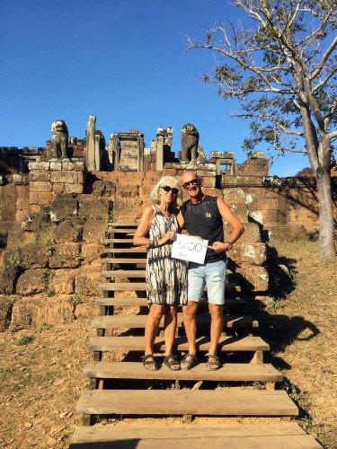 Le 3000e jour du voyage de Chantal et Alain Diveu à Angkor