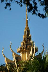 Toits du Palais Royal de Phnom Penh