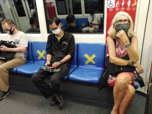 Dans le métro lors du Coronavirus © Alain Diveu