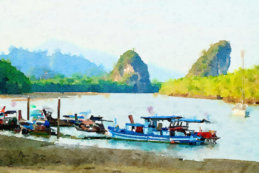 Les rochers de Krabi Town