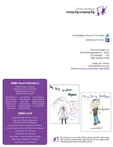 Big Bothers Big Sisters Newsletter Back Page