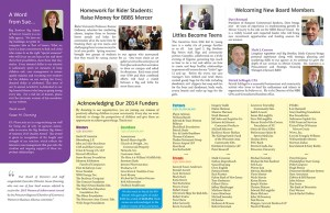 Big Brothers Big Sisters Newsletter Inside Pages