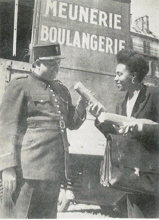 La vraie Gerty Archimède, députée après-guerre avec pain et gendarme