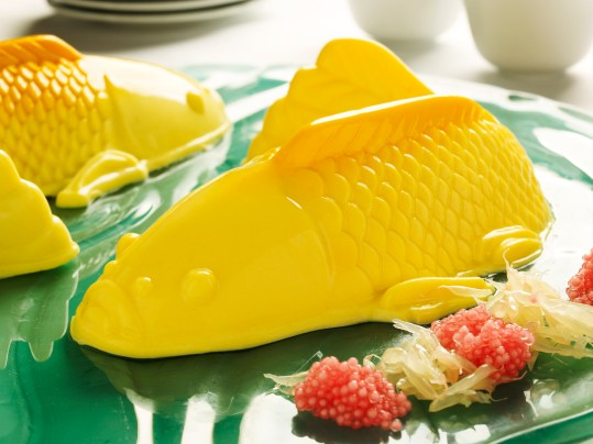 Goodwood Park Hotel Durian and Mango Pomelo with Sago Fish Puddings