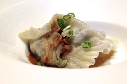 Poached Seaweed And Abalone Fortune Dumpling