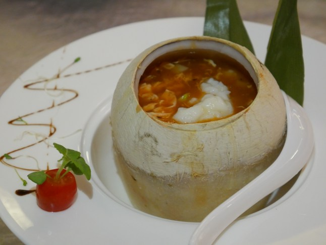 Lobster and Seafood Tomato Thick Soup in Coconut
