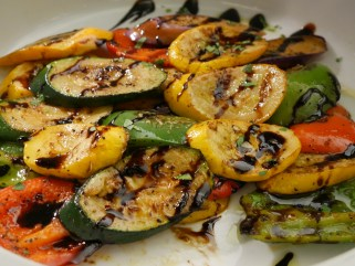 Grilled Marinated Vegetables with Garlic & Fresh Thyme