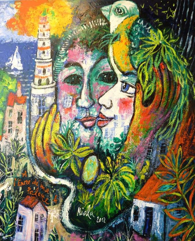 A L'ENCRE DE MA PALETTE 4 - 2012 - NIALA - Acryl sur toile 61x50 007