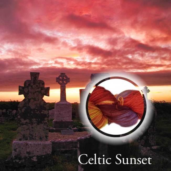 Celtic Sunset Hand Dyed Yarn Álainn Yarns