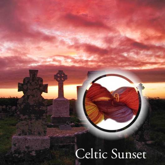 Celtic Sunset Hand Dyed Yarn Álainn Yarns