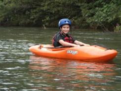 Irving Henry en su kayak