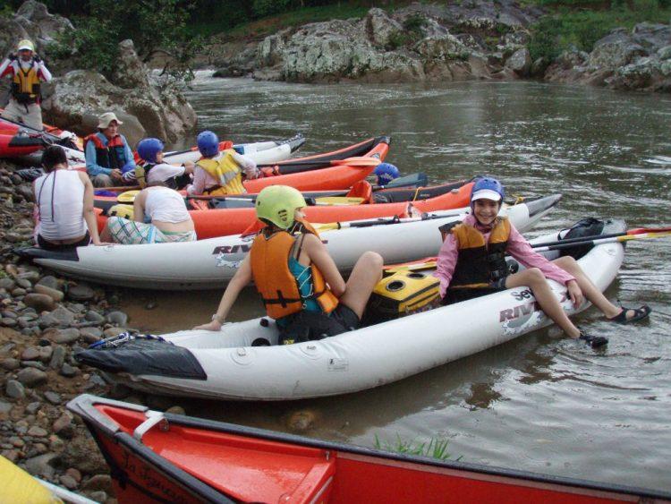 Botes en el Río Grande