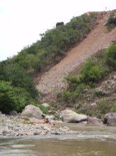 Derrumbe en el cañón