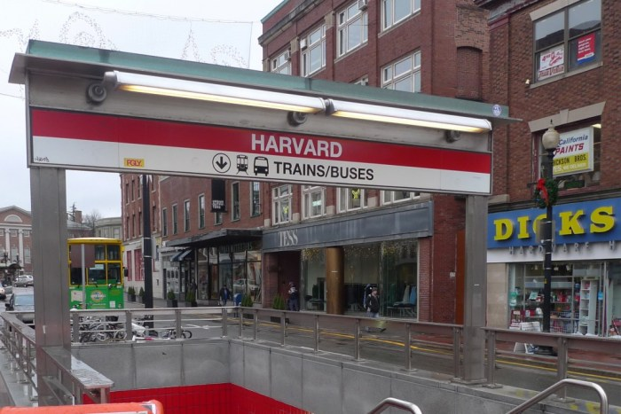 Harvard metro station in Boston