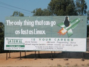 Advertisement for Linux in India in 2001
