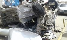 جانب من حادث السير المروع الذي راح ضحيته شابان في مقتبل العمر/ الأخبار