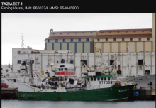 """سفينة """"تازيازت - 1 taziazet-"""""""" التابعة لشركة (صناعة الأسماك والتمثيل التجاري) MAURITANIA SARL IPR"""