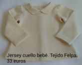 Jersey cuello bebé. Delantero. 33 euros