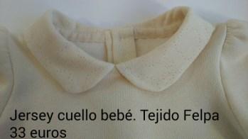 Jersey cuello bebé. Delantero.Detalle. 33 euros