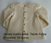 Jersey cuello bebé. Espalda. 33 euros