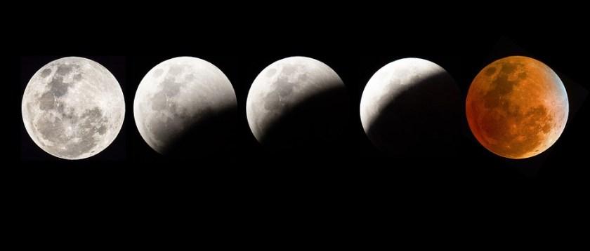 مراحل خسوف القمر الدموي