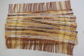 Indian Corn, handwoven cotton rug