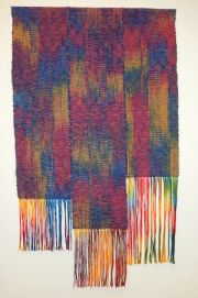 City Lights, hand dyed and woven cotton