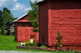 """""""Tobacco Barns in Caswell,"""" photography"""