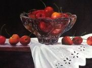 """A Bowl Full of Cherries,"" watercolor"