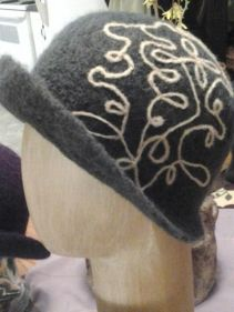 Grey downton hats