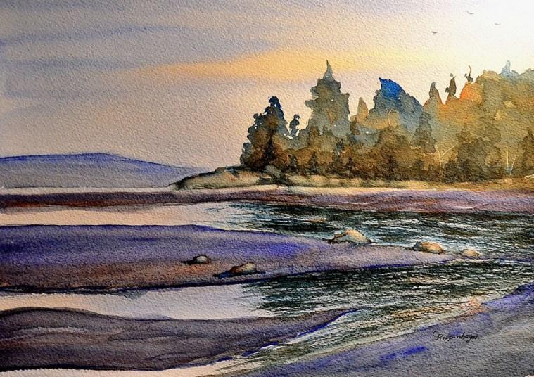 """Morning Light,"" watercolor, 11x14"