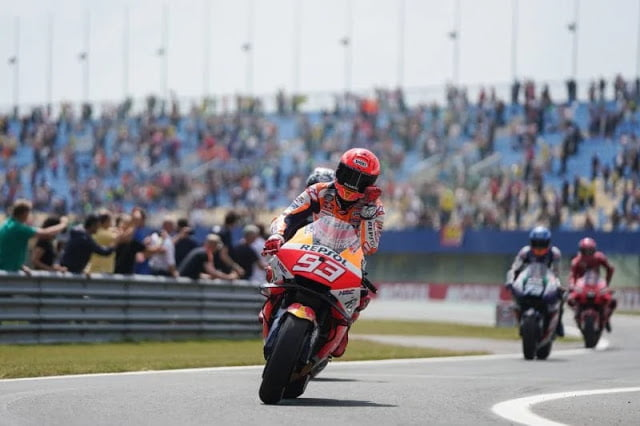 Start Urutan 20, Marquez Finish ke-7 di MotoGP Assen 2021: Sempat Terjatuh di FP2
