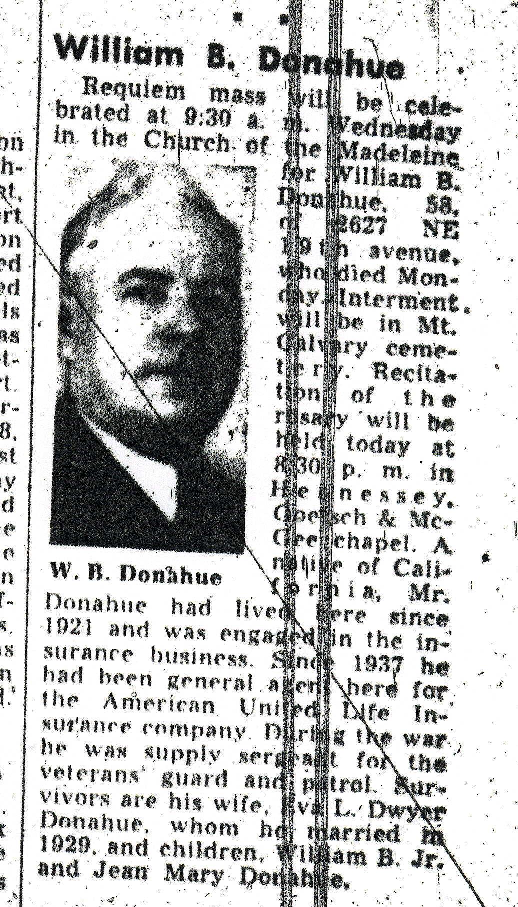 William Donahue Obituary