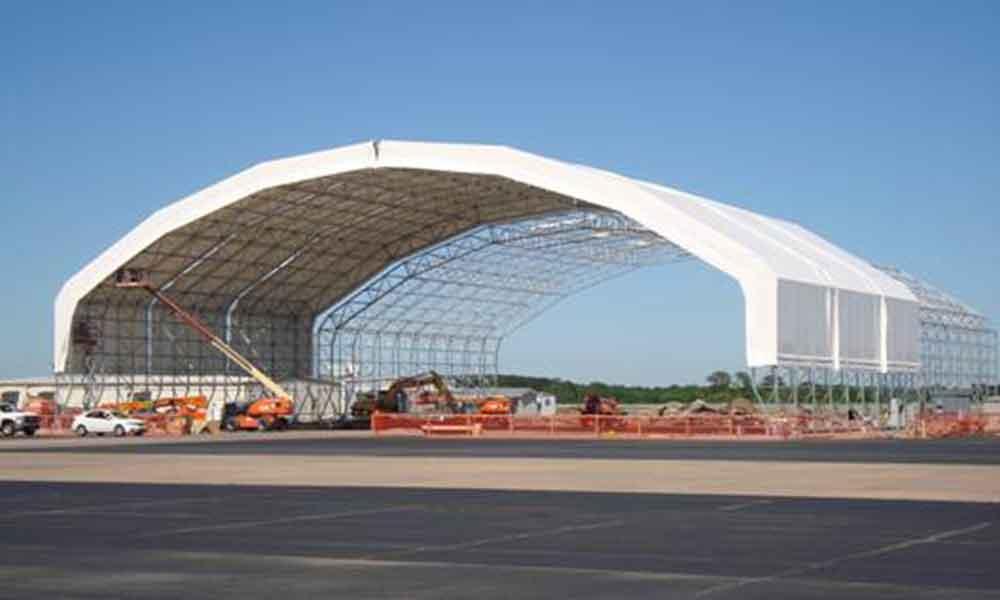 Custom Engineered Hangar Door & L3 Greenville Canopy | Alamo Hangar Doors