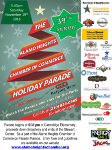 Holiday Parade Alamo Heights Chamber Of Commerce