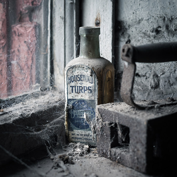 Vintage turpentine bottle - Still life Photography