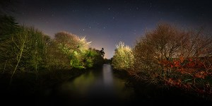 River Maine at night - Dunminning - Fine Art Print