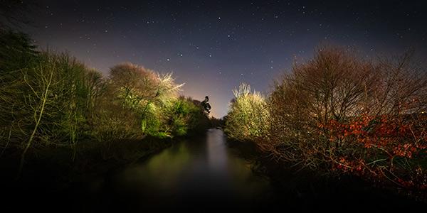 River Maine at night - Dunminning - Fine Art Print