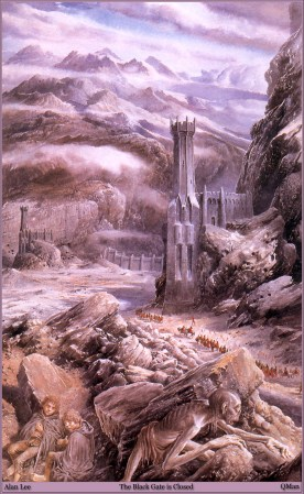 The Black Gate Closed by Alan Lee