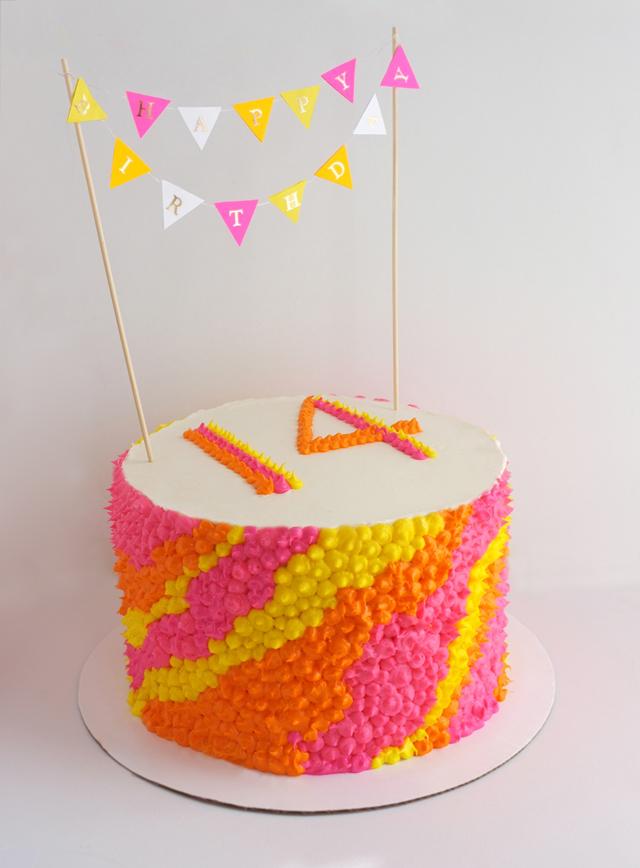 Baked Neon Birthday Cake Alana Jones Mann