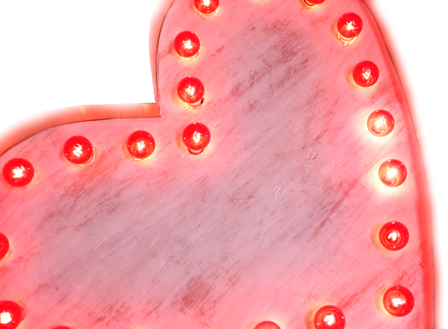 DIY marquee heart light