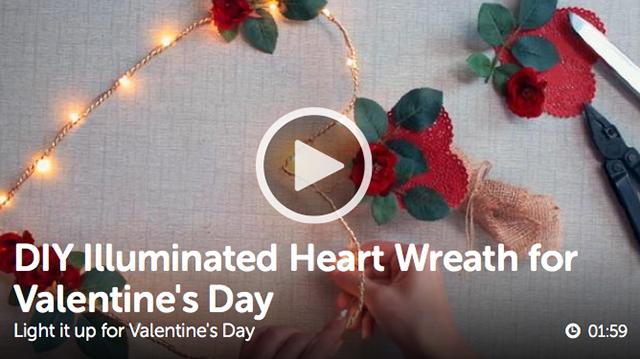 Illuminated Heart Wreath DIY_ulive